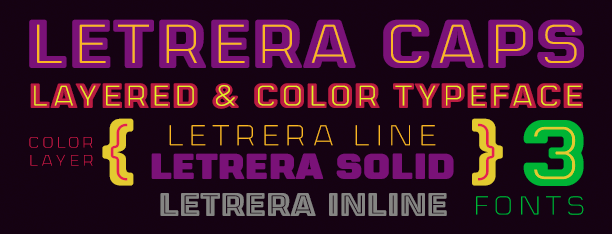 Letrera Caps -Layered & Color-