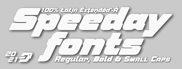 Speeday display fonts