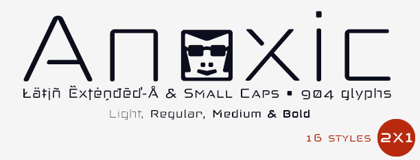Anoxic: Sans-Stencil & Small Caps