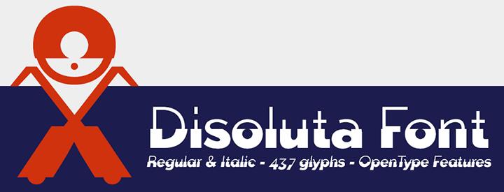 Disoluta, experimental font