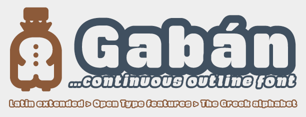 Gabán Outline -2x1 Fonts-