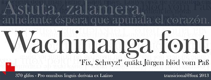 Wachinanga font