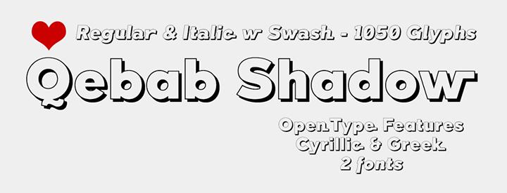 Qebab Shadow font