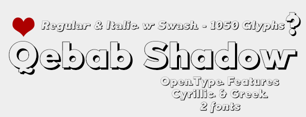 Qebab Shadow -2x1 Fonts-