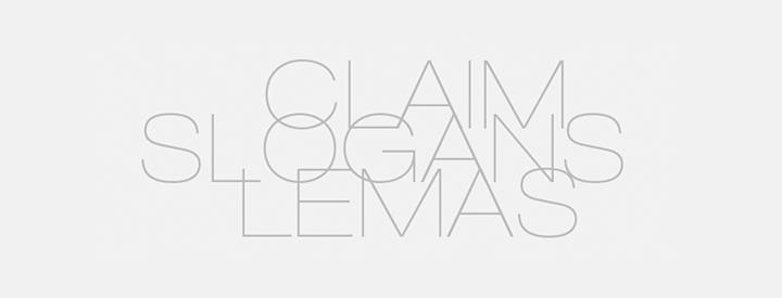 De Logos, Slogans y Claims