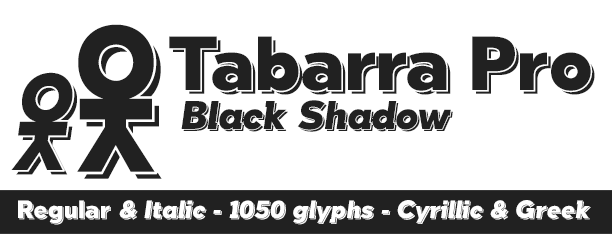 Tabarra Black Shadow Pro -2x1 Fonts-