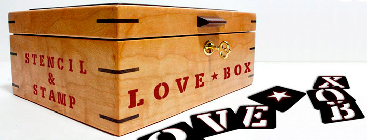 LOVE-BOX, stencil & stamp font