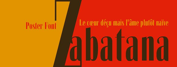 Zabatana, tipografía para posters